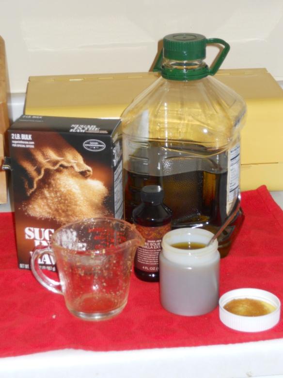 making the sugar scrub