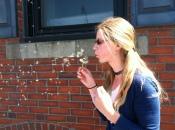 Em with dandelion