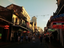 Bourbon Street just as the sun was setting