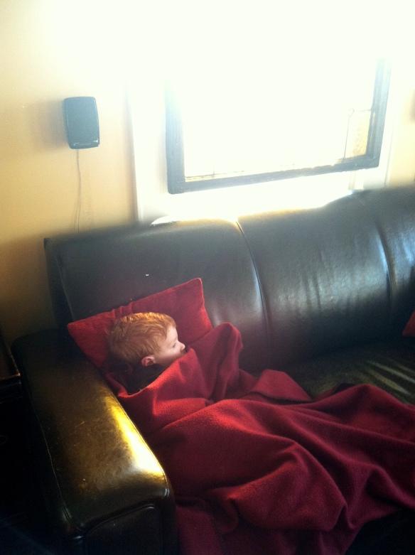 post-nap snuggles